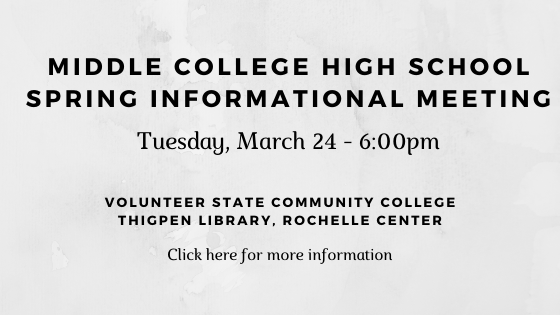 Middle College High School Information Meeting-March 24