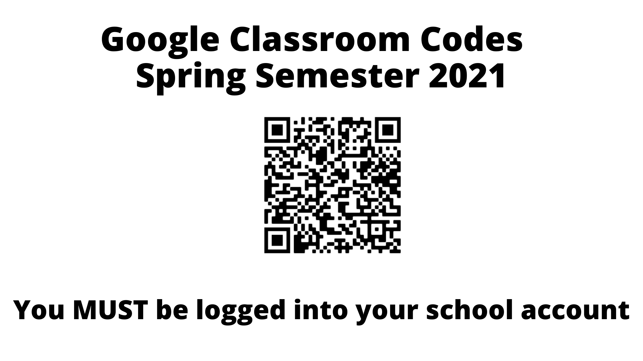 QR CODE for google class spring 21 1