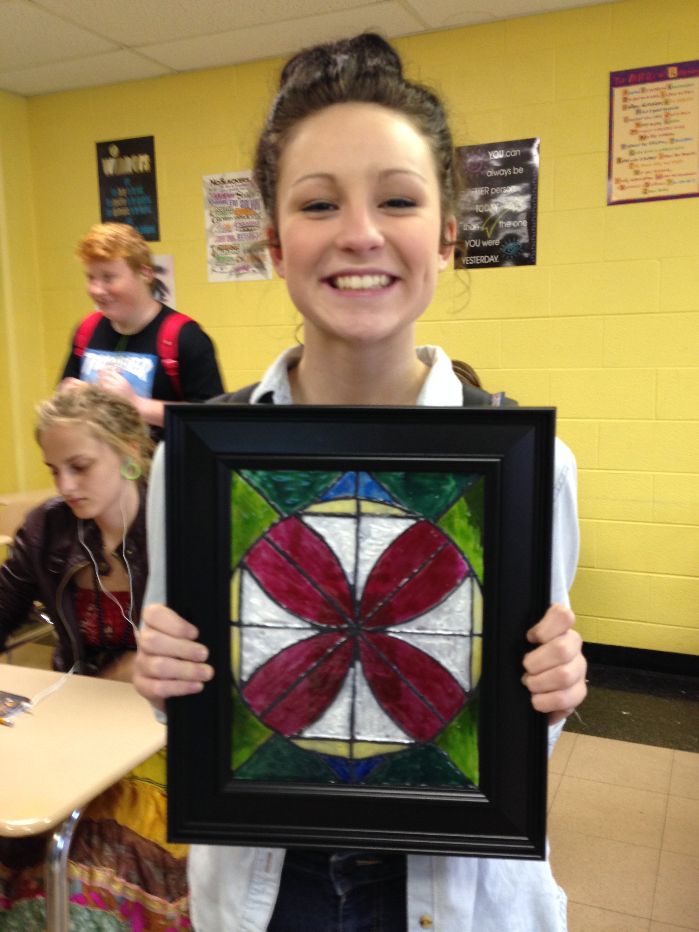 Ms. Ernsberger's Geometry students doing their stained glass ...